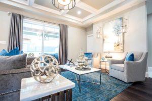 Teal Living Room, Interior Design