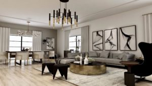 Modern Living & Dining Interior Design